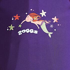 Zoggs Mermaid Flower Badpak Kinderen roze/violet
